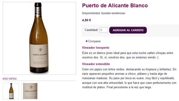 Ficha de producto de vinos para inexpertos y expertos