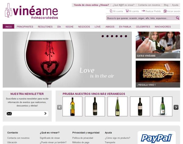 Tienda de vinos online que puede entender cualquiera - Vineame.com