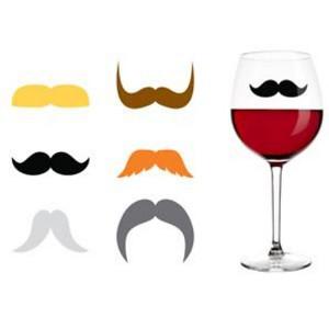 Bigotes para identificar copas de vino