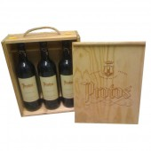 Estuche madera vino protos crianza 2005 pack 3 botellas