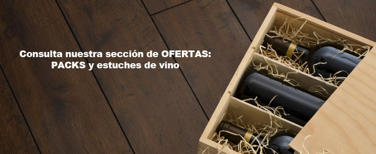 Packs oferta de vinos y estuches de regalo