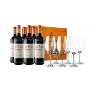 6 Botellas Marqués de Murrieta Reserva 2009 + 6 Copas Zwiesel