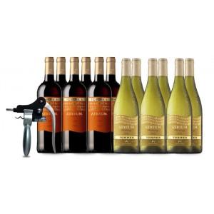 6 x Atrium Merlot + 6 x Atrium Chardonnay con Sacacorchos