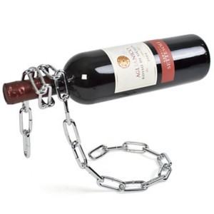 Porta botellas flotante con forma de cadena